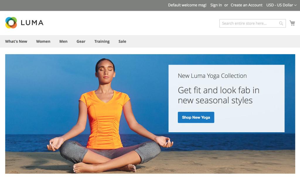 Magento 2.0 GA - Homepage